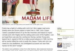 Bruce Dessau review of Madam Life for theartsdesk.com