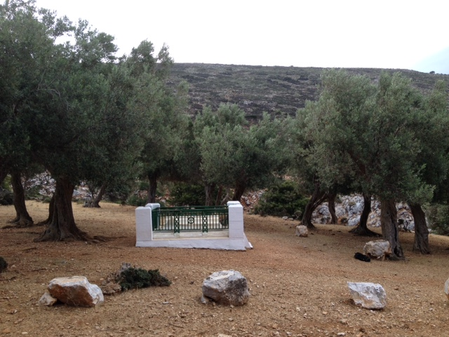 Rupert Brooke's grave in the olive grove on Skyros